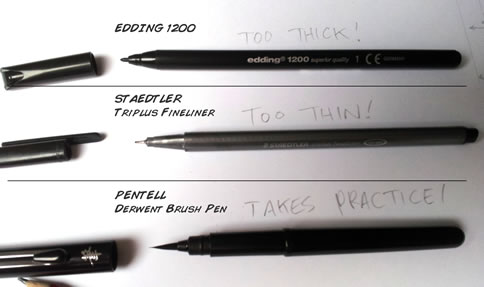 pens for comic drawing