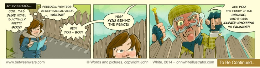 Comic strip 1, as extracted from a larger 'Between * Wars' comic page