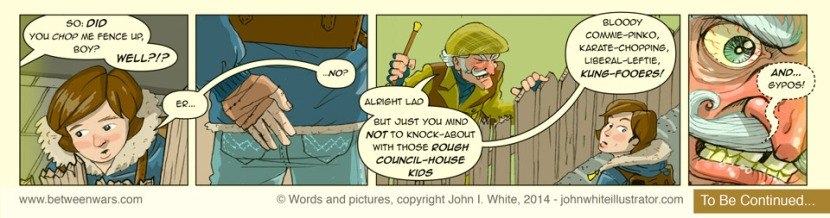 Comic strip 2, as extracted from a larger 'Between * Wars' comic page