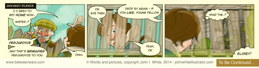 Comic strip 3, as extracted from a larger 'Between * Wars' comic page