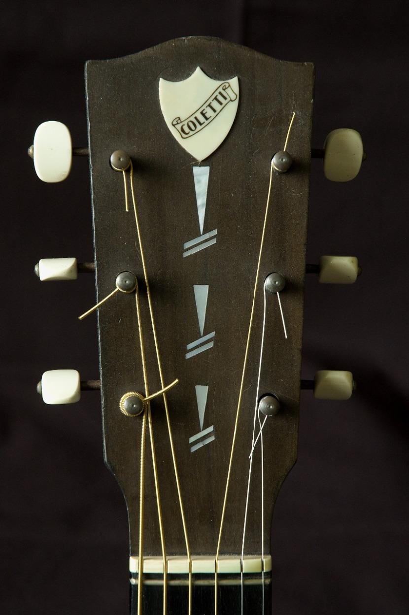 Martin Coletti G40 guitar headstock